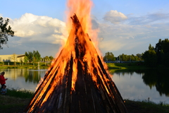 St John's day bonfire