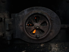 Steam engine tractor oven