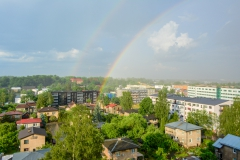An other view from my dorm rainbow rain dorm tartu