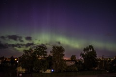 Auroras over city   town night sky northen_light city aurora
