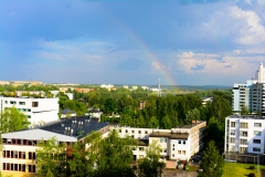 View from my dormitory view dorm tartu